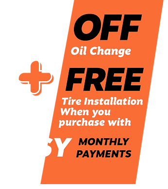 $10 OFF Oil Change plus FREE Tire installation with Easy Monthly Payments