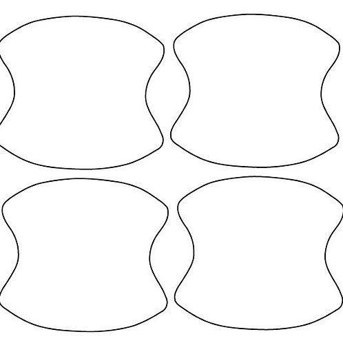 Custom precut door cups - 4 pieces
