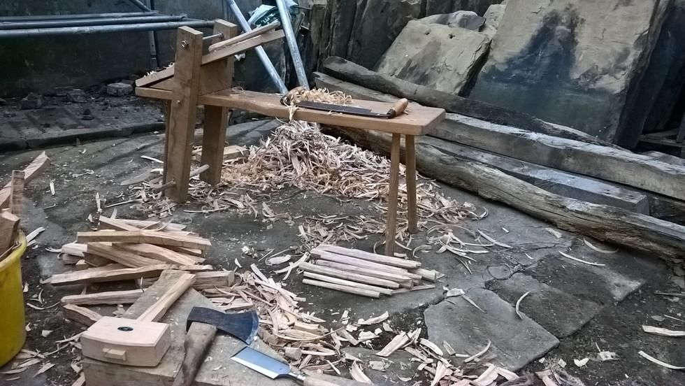 Timber frame peg making