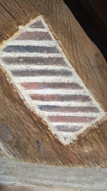 Lime mortar tile repair