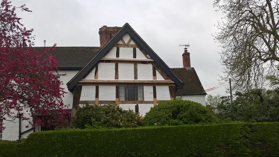 17C Worcestershire timber frame gable repair