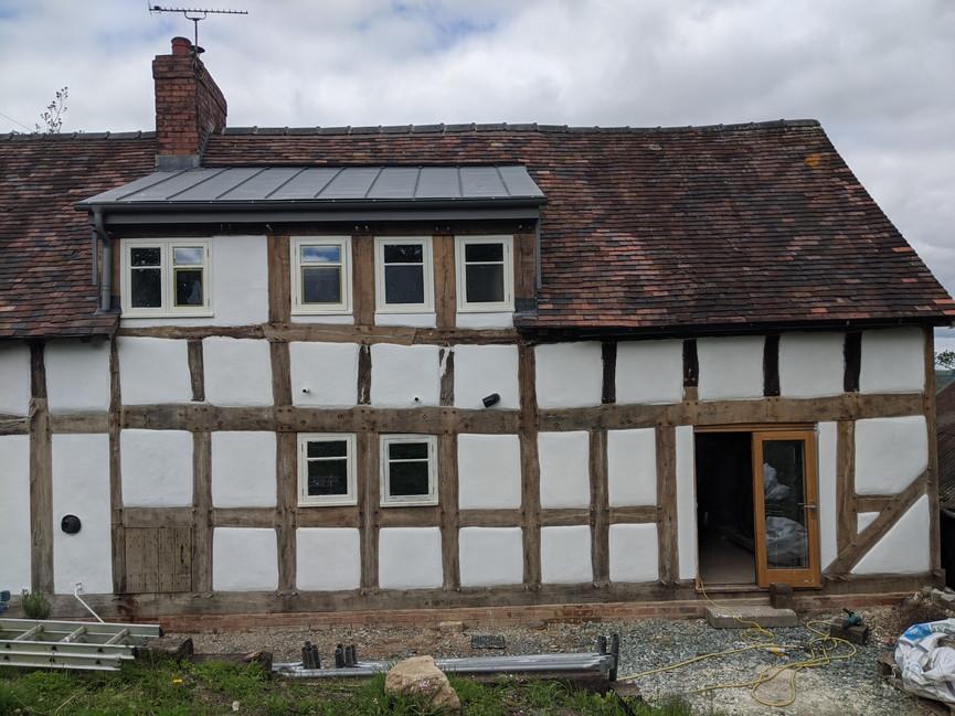 Shropshire oak timber frame refurbishment
