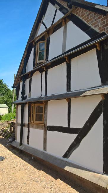 C17 timber frame restoration worcestershire