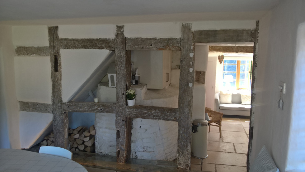 Bread oven and timber frame repairs