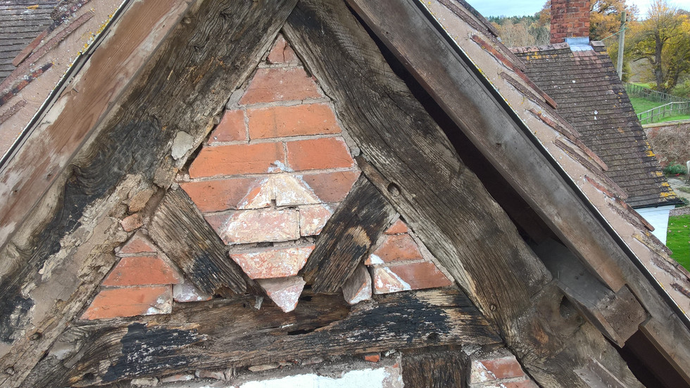 17C Worcestershire Timber frame gable