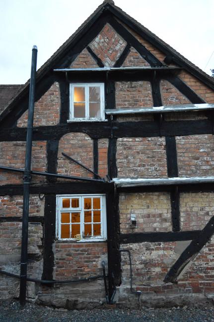 Worcestershire C17 timber frame cottage prior to restoration