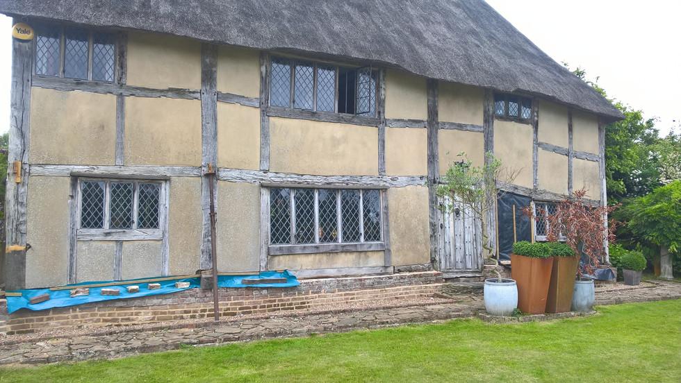 C16 sussex timber frame prior to restoration