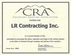 Colorado Roofing Association Certification (Click for More Info)