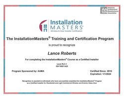 Installation Master Certification (Click for More Info)