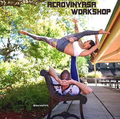 @laurasykora + @acroeddie ACROVINYASA Workshop