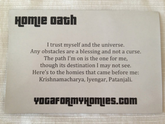 Homie Oath Fridge Magnet