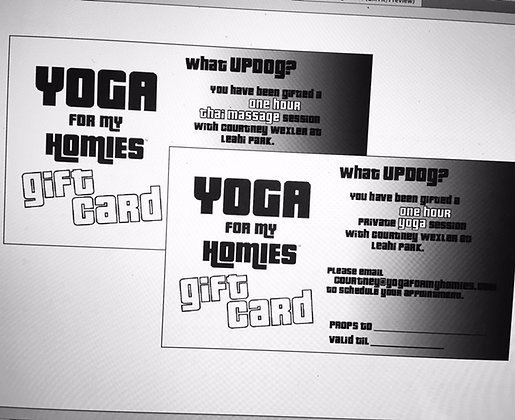 Yoga for My Homies Gift Card