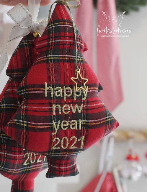 υφασμάτινο δεντράκι HappyNewYear 2021