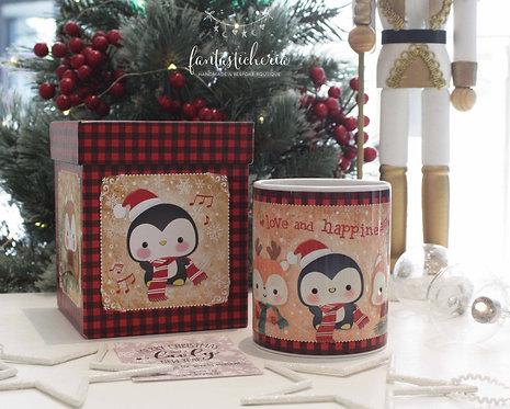 χριστουγεννιάτικη κούπα love & happiness