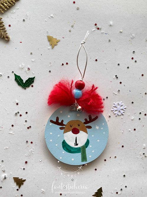 γούρι με ζωγραφική reindeer