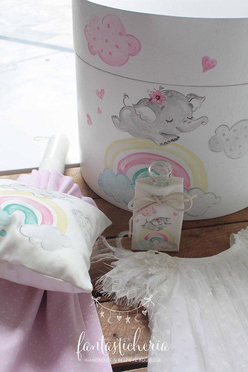 σετ βαπτιστικών elephant & rainbow