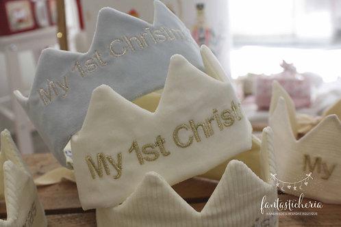 υφασμάτινη κορόνα My 1st Christmas