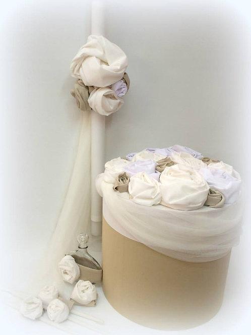 σετ βαπτιστικών με τούλι & λουλούδια - προσφορά