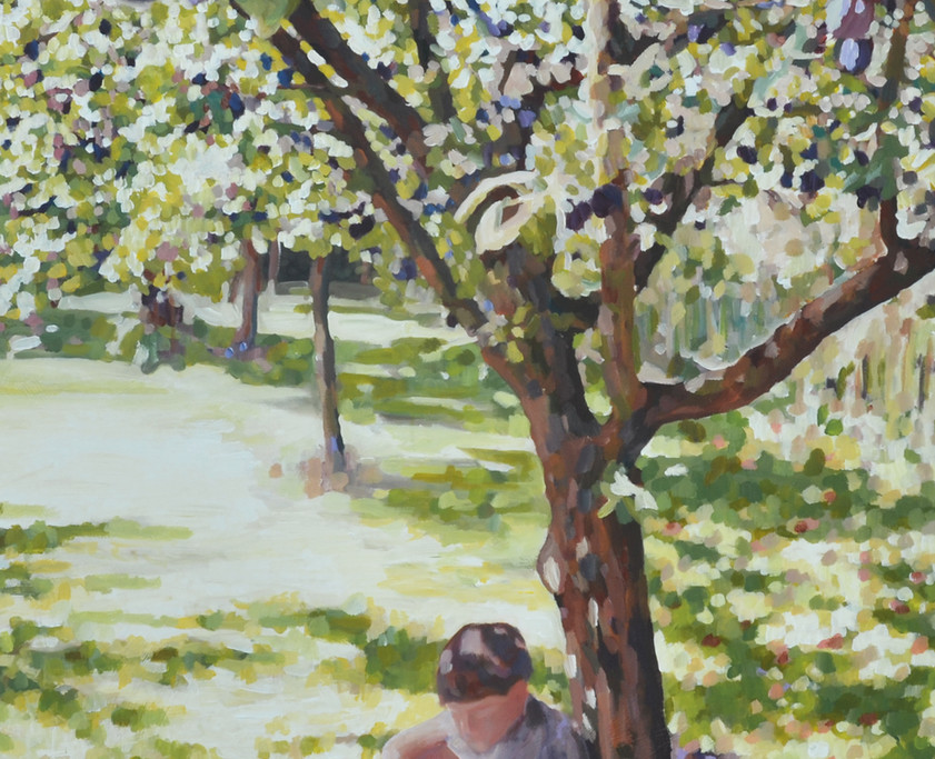 Under the shade of the plum tree