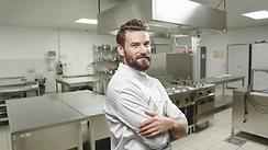 Chef-kok in een keuken