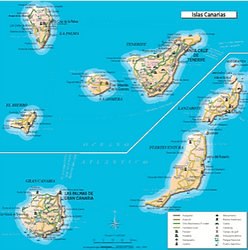 Canary Island Map | Sail Canaries | Canaries  Sail | Canary Islands sailing
