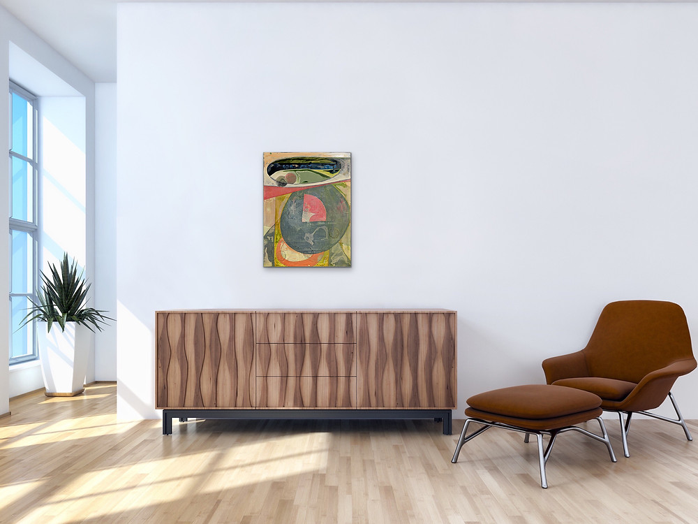 Contemporary abstract painting for sale by Robin Arthur