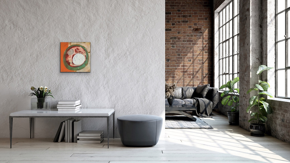 Mid Century Modern Style Abstract Painting by Robin Arthur
