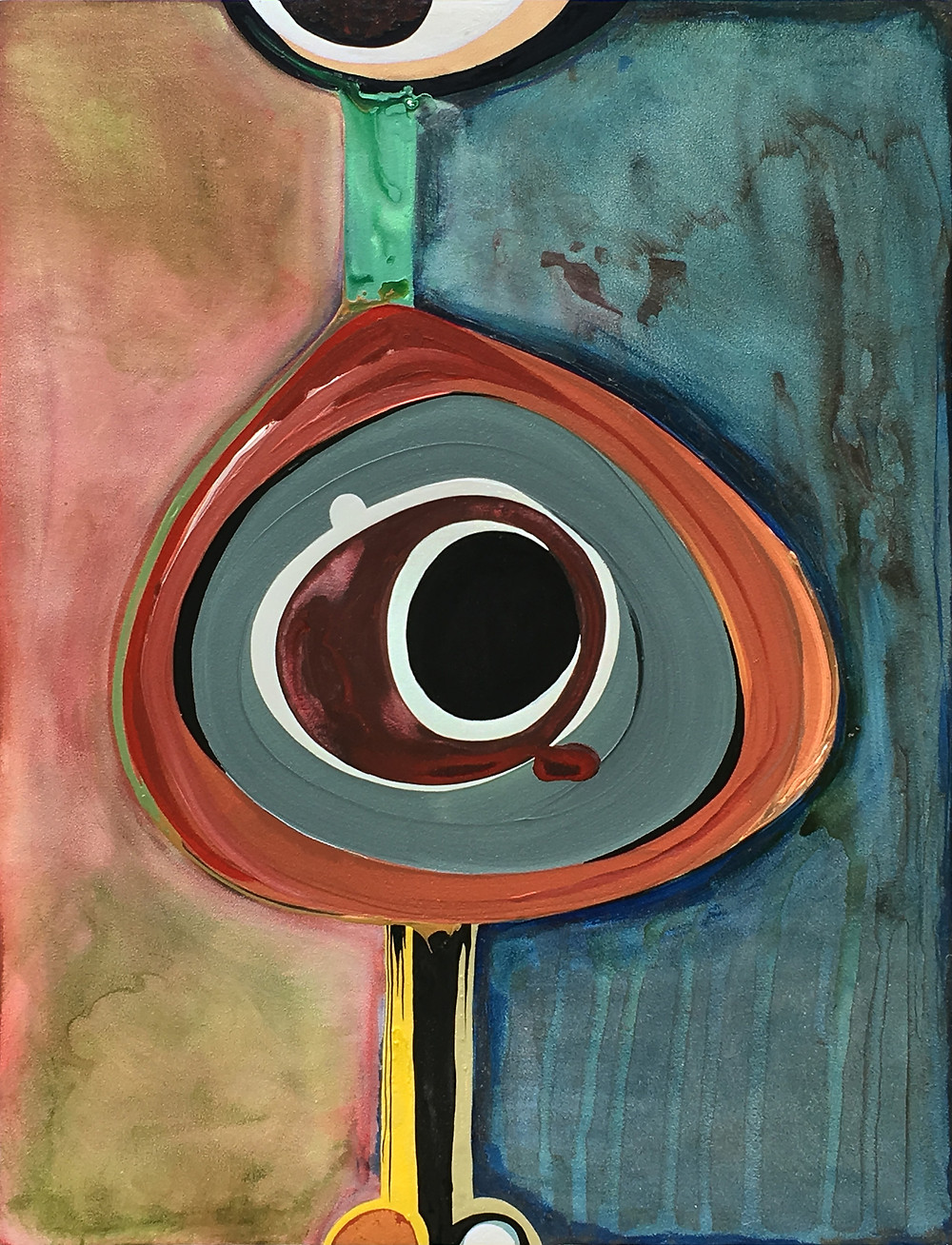 Mid Century Modern Inspired Paining by Robin Arthur