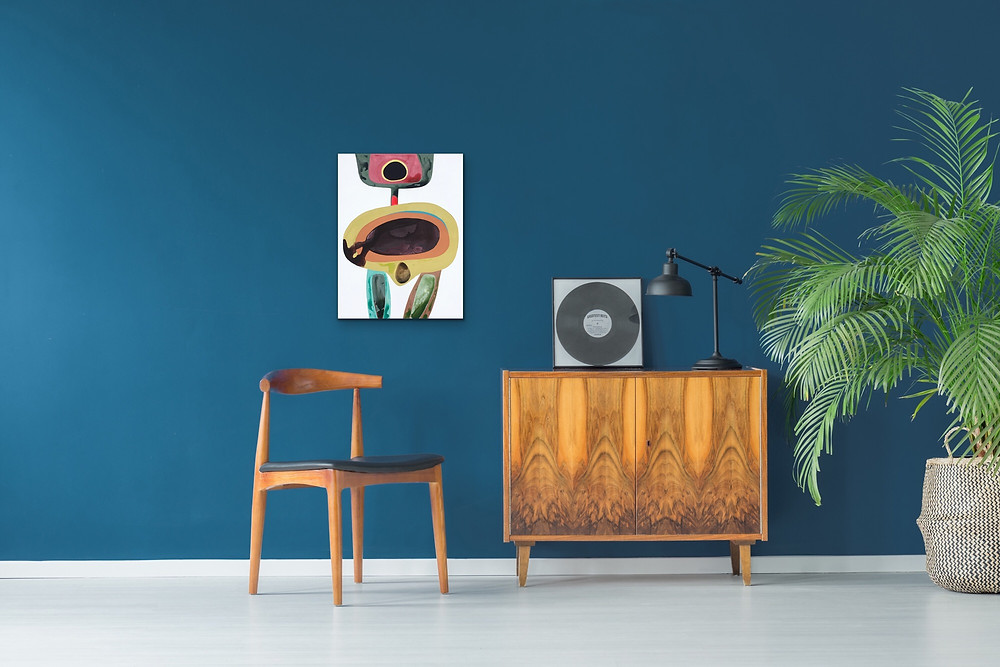 Mid Century Modern Style Abstract Painting for Sale by Robin Arthur