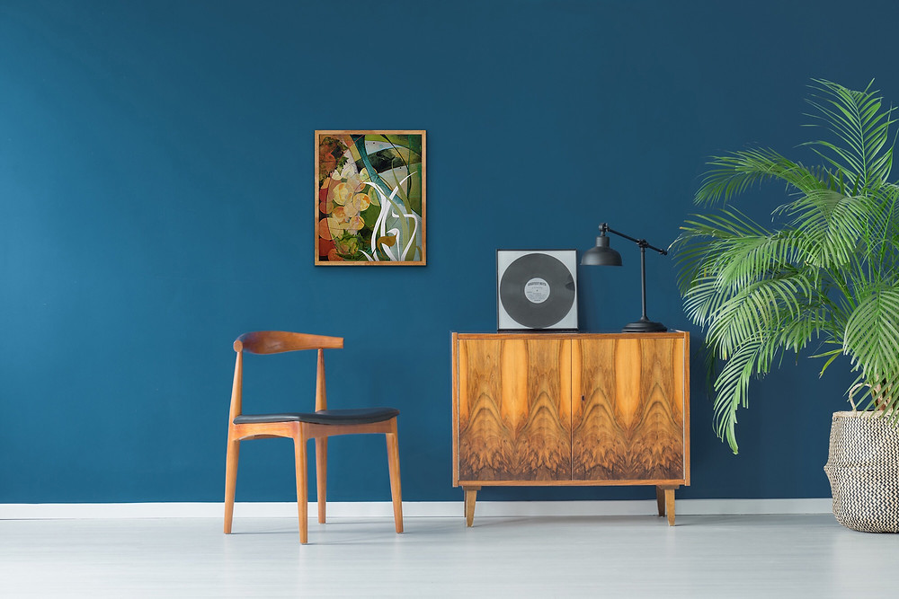 Mid Century Modern Room and Abstract by Robin Arthur