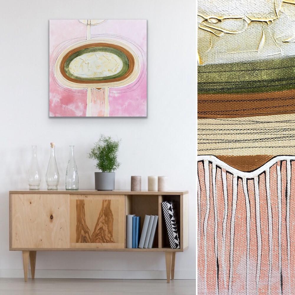 Blush Abstract Art