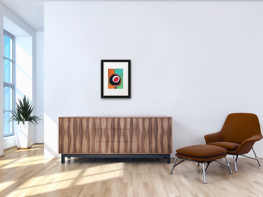 Mid Century Modern Inspired Wall Art, Number 35, Mod Suit, by Robin Arthur