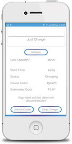 Electric car charging smartphon app