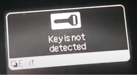 nissan leaf key not detected.JPG