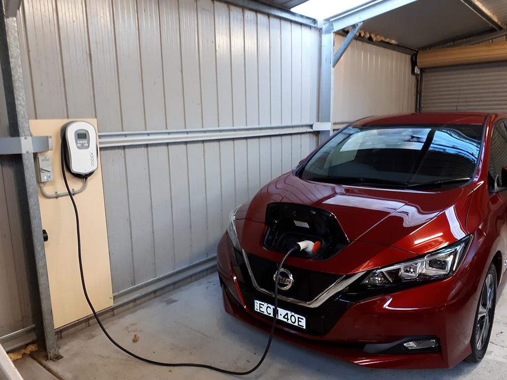 Nissan LEAF Myenergi Zappi EV charging