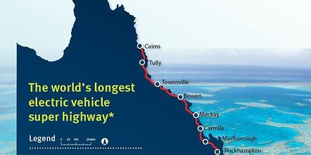 World's longst electric vehicle super highway Queensland