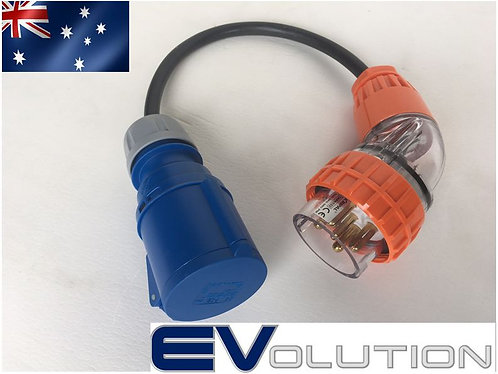Three to Single Phase Adaptor (32 Amp)