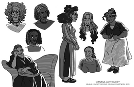 Grandma Concept Art - Mañana Latinx Sci-fi Anthology