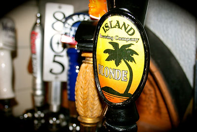 Picture of our tap beers (Island Blonde)
