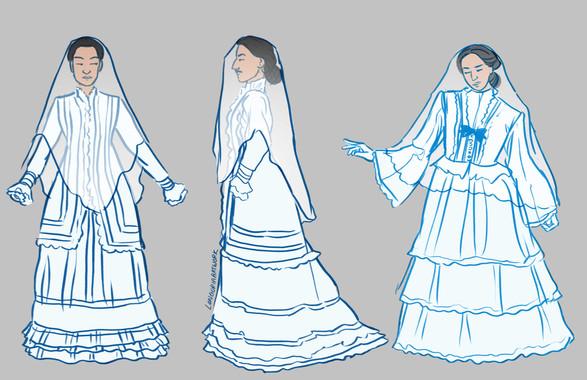 Wedding Dress - La Llorona Comic Private Commission