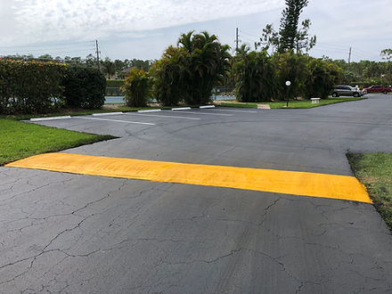 Speed Bumps | Naples, Florida | Paramount Asphalt SealCoating