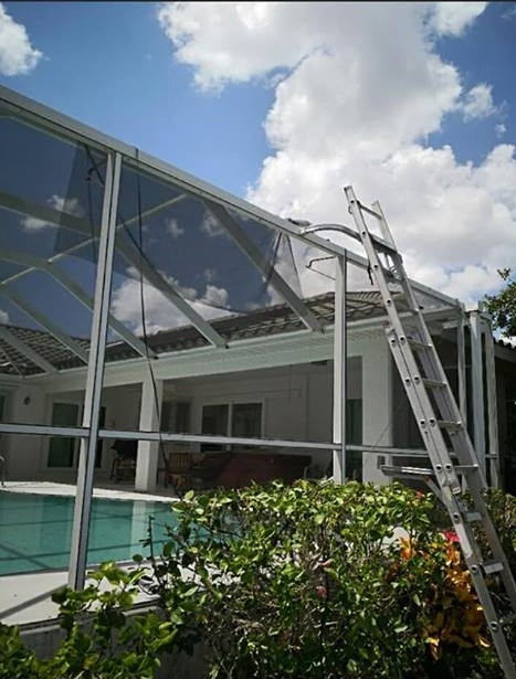 Pool Patio Enclosure Screen Repair