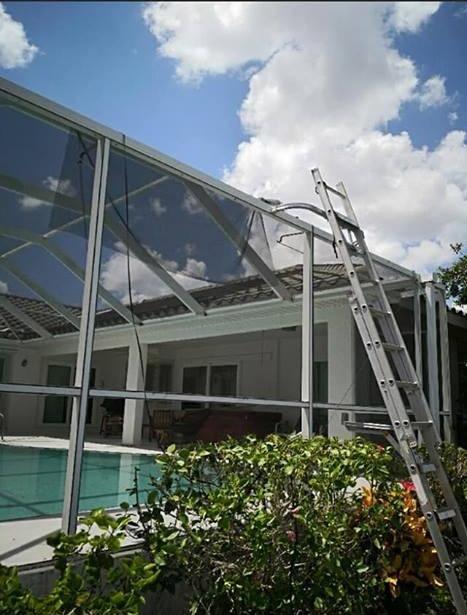 Pool Patio Enclosure Screen Repair
