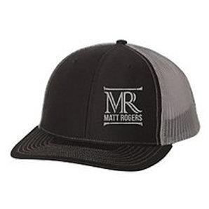 Matt Rogers Truckers Cap In Black and Charcoal