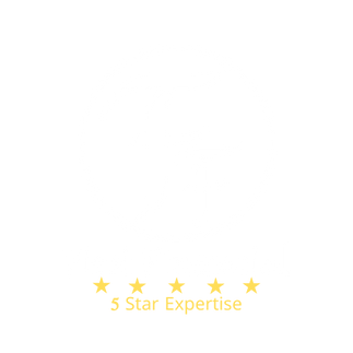 First Financial Logo White & Gold w_ Blu