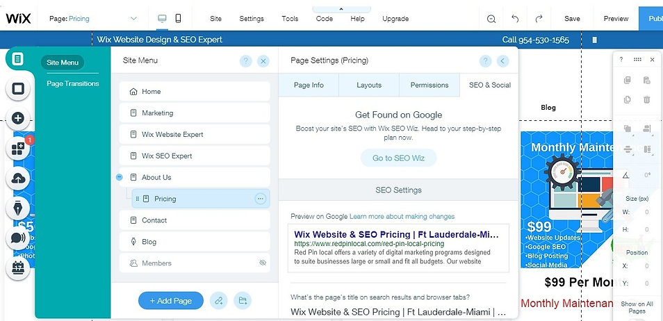 Wix Offline SEO Expert | Fort Lauderdale | Red Pin Local