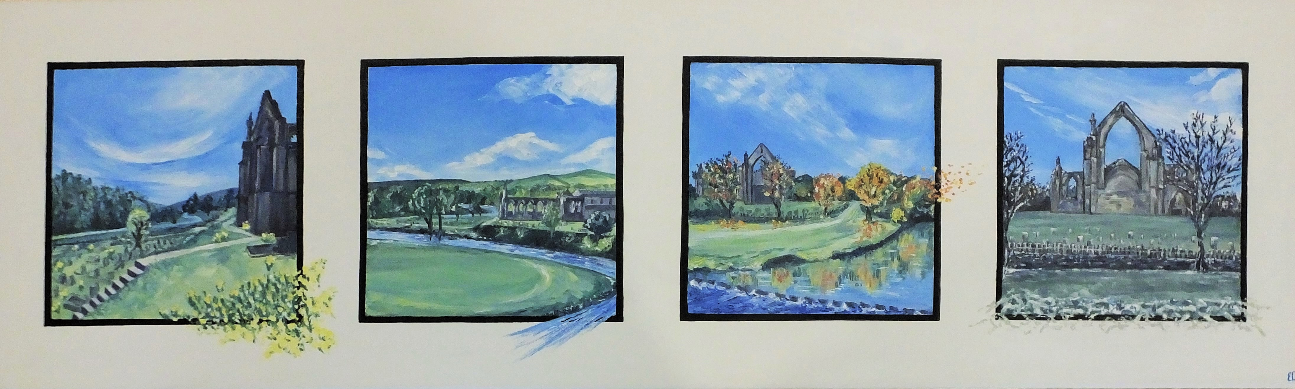 Bolton Abbey in the Four Seasons