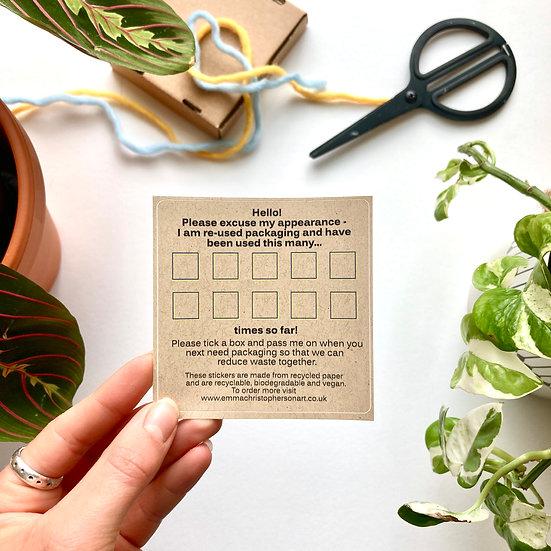 Reusable Packaging Sticker
