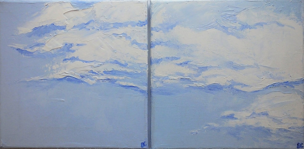 Diptych - July Clouds