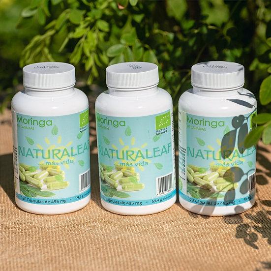 3 x capsules de Moringa canarien NaturaLeaf (360)